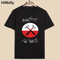 b75e96e6 Aliexpress.com : Buy Hillbilly New Pink Flody The Wall Rock Two Hammer  Fashion Black T Shirts Summer Loose Hip Hop Short Sleeve Tees Tshirts Homme  from ...