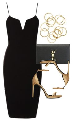 """Style #9949"" by vany-alvarado ❤ liked on Polyvore featuring Yves Saint Laurent"