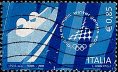 Italy.  WINTER OLYMPIC GAMES, TURIN.  BOBSLED.  Scott 2720 A1462, Issued 2006 Feb 8,  Perf. 13 x 13 1/4, .85. /ldb.