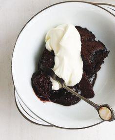 Chocolate Blackberry Pudding