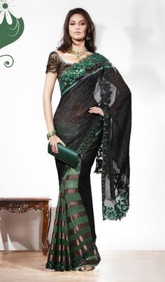 Emerald -  Pantone color of the year 2013  Indian Sari.