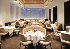 With star restaurant in NYC, located in Trump Hotel & Tower New York, guests can enjoy premier dining without leaving the building. The Columbus Circle restaurant features a fine dining experience in NYC like no other. Fun Restaurants In Nyc, French Restaurants, Restaurant Hotel, Restaurant Design, Restaurant Interiors, Restaurant Lighting, Organic Restaurant, Restaurant Seating, Hotels
