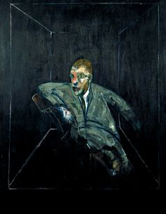 FRANCIS BACON  Study for Figure V, 1956   oil on canvas 60 x 46-1/2  Berkeley Art Museum