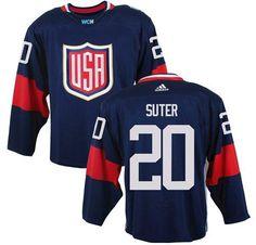81fc9db50 Team USA  20 Ryan Suter Navy Blue 2016 World Cup Stitched NHL Jersey Nhl  Hockey