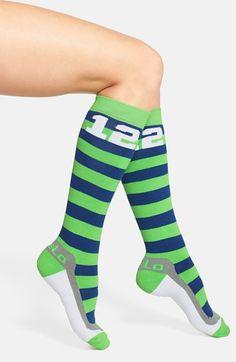 FiveLo 'Hawks 12' Stripe Knee High Socks available at #Nordstrom