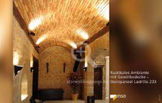 Ausstellung mit Gewölbedecke - MSD-Steinpaneel Ladrillo multicolor - 00125