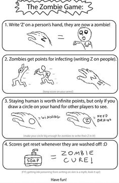Image title: The Zombie Game - Posted in: Funny, Quotes Pictures, Troll Face Comics Pictures - Tagged: Zombie, Games, Funny Facts photos
