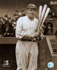 "George Herman ""Babe"" Ruth, Jr. (2/6/1895-8/16/1948) was an outfielder & pitcher who played 22 seasons in Major League Baseball from 1914-1935. He began his career as a stellar left-handed pitcher for the Boston Red Sox, but achieved his greatest fame as a slugging outfielder for the New York Yankees. Ruth established many MLB records, some of which have been broken. He was one of the first 5 inductees into the National Baseball Hall of Fame in 1936."