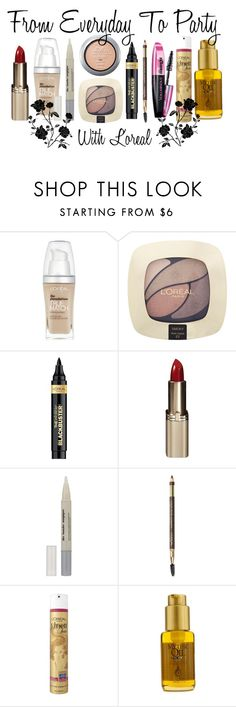 From Everyday to Party by stylebycharlene on Polyvore featuring beauty, L'Oréal Paris, Beauty, makeup, natural and poducts