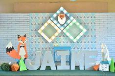 Jaime's Geometric Fox Themed Party – Stage Geometric Fox, Party Themes, Party Ideas, Stage, Holiday Decor, Birthday, Unique, Birthdays, Ideas Party