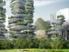 A beautiful example of useful arcology - Concept art for the Shenzen Asian Cairns Farmscraper Project | io9