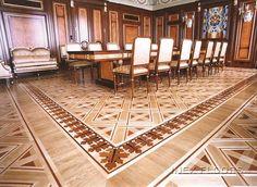 Hardwood Floor Medallions Wood Inlays Borders And Block Parquet