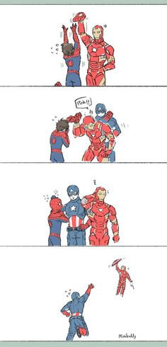 Avengers: Captain America, Iron Man and Spiderman