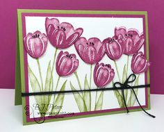 Tranquil Tulips is one of the best host sets ever from Stampin' Up!  See how you can get it for Free in June!  #stampinBJ.com