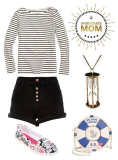 """#FirstMateMom"" by ohbon on Polyvore featuring J.Crew, River Island, Arizona and Betsey Johnson"