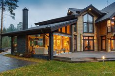 Trendy Exterior Home Modern Building Ideas Home Styles Exterior, Exterior Design, Style At Home, House In The Woods, My House, Modern Cottage, Modern Mansion, Cottage Style Homes, Home Design Plans