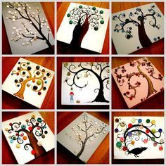 art by wiley: The Button Tree Story. Cute kids crafts for a birthday party! Kids Crafts, Cute Crafts, Crafts To Make, Arts And Crafts, Paper Crafts, Rock Crafts, Summer Crafts, Felt Crafts, Easy Crafts