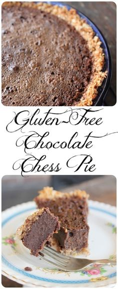 A southern pie of butter, sugar, eggs, chocolate and cornmeal! Simple and super tasty!