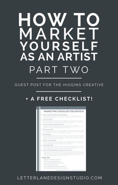 This is part two of my guest post for The Higgins Creative, where I'm giving solid advice and tips on how to market yourself as an artist. Read PART ONE here. Selling yourself (and your business) is hard. However, as an artist (and a business owner, in general) you need to be able to do exactly that in order to make sales. For new artists and business owners, it's hard to even know where to start or what options are available for making yourself and your business known. Luckily, I'm h...