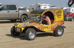 A wild fiberglass mating of a C-cab rear to a toad dune buggy front end. Pretty cool!