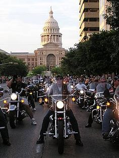 Downtown Austin is taken over the first weekend of June each year with the Republic of Texas Biker Rally http://www.rotrally.com/ Moving to the Austin area? Allow us to find your new home- www.relogroup.com