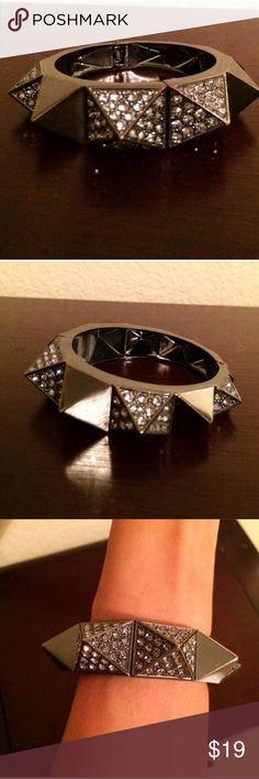 SUNDAY SALE ⚡️BCBGMAXAZRIA pave spiked bracelet Gunmetal closure and magnetic closure😊 BCBGMaxAzria Jewelry Bracelets