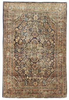 Antique Jozan Sarouk Rug    Hand-knotted in Persia  Circa 1925