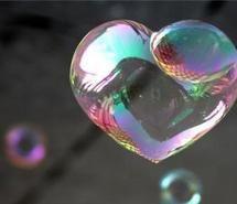 bubble, bubbles, heart, love (Full Size)