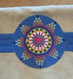 american rosettes headbands beaded Native strips