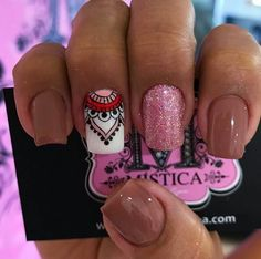 Installation of acrylic or gel nails - My Nails Elegant Nail Designs, Creative Nail Designs, Creative Nails, Nail Art Designs, Love Nails, Pretty Nails, Fun Nails, How To Do Nails, Tribal Nails