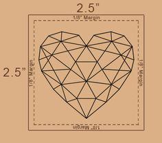 Geometric Heart Temporary Tattoo