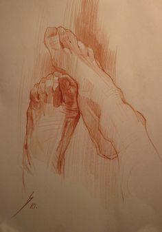 Вася Когутич, зарисовки рук и ног