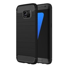 [$1.94] For Samsung Galaxy S7 Edge / G935 Brushed Texture Fiber TPU Rugged Armor Protective Case(Black)