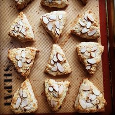 Sunday morning. Toasted almond scones from @doriegreenspan's Baking From My Home to Yours. Perfect.