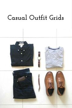 Today we're going to share coolest casual outfit grids with you today. Amazing casual outfit grids to help you look sharp. Stylish Mens Fashion, Mens Fashion Blog, Best Mens Fashion, Fashion Wear, Fashion Tips, Smart Casual Outfit, Casual Outfits, Men Casual, Men's Outfits