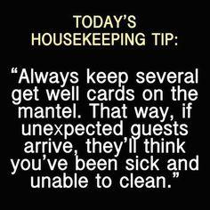 Todays housekeeping tip