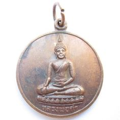 Buddhist amulet pendant Thai buddha statue yantra holy coin - Lp dum saolakmueng