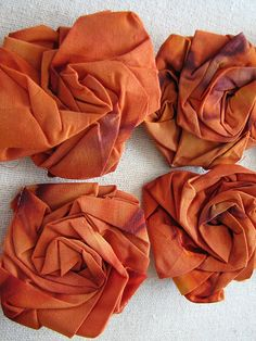 flowers from pleated material
