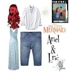 Ariel & Prince Eric Scene by jreed9838 on Polyvore featuring polyvore moda style Ariella Scotch & Soda Banana Republic Topshop Disney