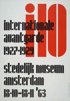 Jurriaan Schrofer, i10, Internationale avantgarde 1927-1929, Stedelijk Museum Amsterdam,1963