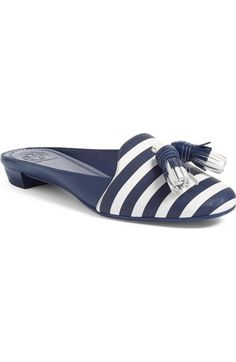 07a9c42139151 Tory Burch Maritime Tassel Loafer Mule (Women) available at  Nordstrom  Tassel Loafers