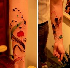 then the Not-so-clean-line Tattoo art by Jie Zi