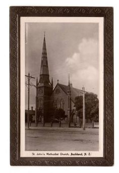 Real Photograph of St John's Methodist Church Auckland. - 45622 - Postcard - Postcards Auckland Suburbs - Postcards New Zealand - Postcards By Country - EASTAMPS Auckland New Zealand, St John's, Old And New, Postcards, Saints, Photograph, Country, Painting, Art
