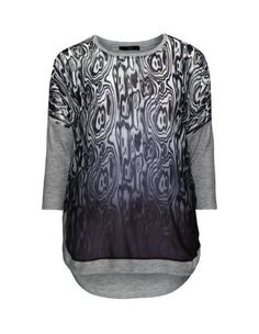 Stoffmix-Shirt mit Animal-Print von Ciso. Jetzt entdecken: http://www.navabi.de/shirts-ciso-stoffmix-shirt-mit-animal-print-grau-schwarz-23827-1424.html?utm_source=pinterest&utm_medium=social-media&utm_campaign=pin-it