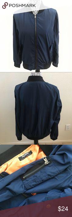 ZEAGOO blue bomber utility jacket large . Zeagoo Jackets & Coats Utility Jackets