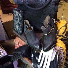 LENA MILOS vintage tex for women from EMPORIO CALZATURE - Modena - #lenamilos #tex #black #grey #rock #madeinitaly #shoes #girls #style #moda