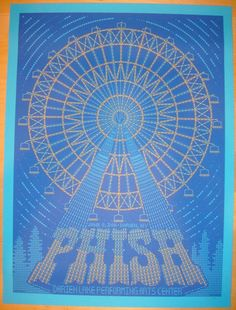 2011 Phish - Darien Lakes Concert Poster by Todd Slater