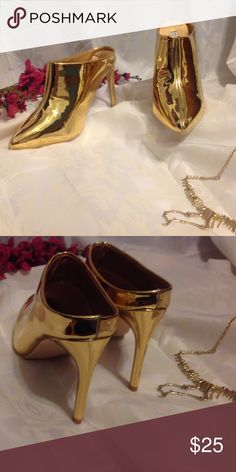 Megan metallic high heels Brand new beautiful gold metallic high heels.  Stunning for any occasion ❤️ Shoes Heels