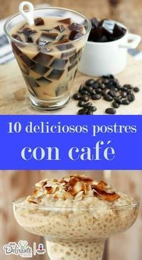 10 deliciosos postres con café que tienes que probar en la vida-Atıştırmalık tarifler Köstliche Desserts, Delicious Desserts, Dessert Recipes, Yummy Food, Mexican Food Recipes, Sweet Recipes, Truck Cakes, Coffee Recipes, I Love Food