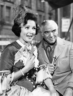 Betty White hosts the 1967 Macy's Thanksgiving Day Parade with Lorne Greene. #BettyWhite